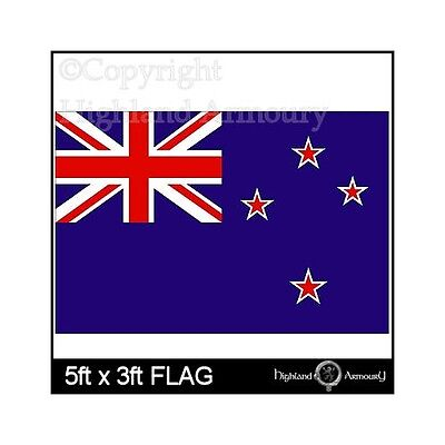 5' x 3' FLAG New Zealand Kiwi Rugby Cricket Large 150 x 90cm Flags ft New