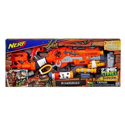 Nerf Zombie Strike Survival System Scravenger Kit w/Scope, Tactical light & more
