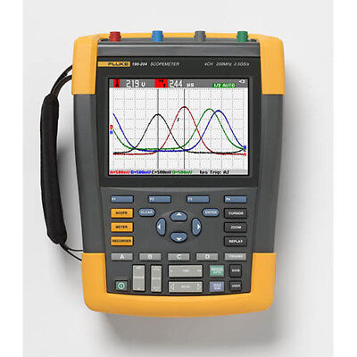 Fluke 190-204am 200 Mhz 4-ch 2.5 Gss Color Scopemeter Oscilloscope