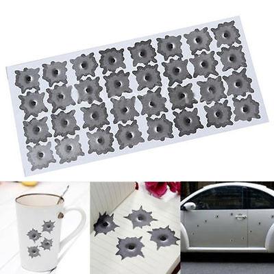 Simulation bullet hole Orifice stickers Graphic Decal Car Auto body Paper Decor
