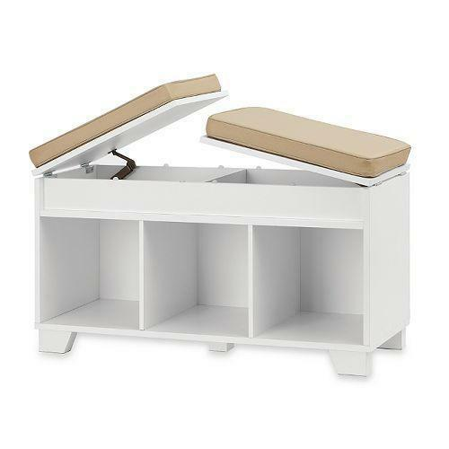 entryway benches with storage organizing | Entryway Bench | eBay