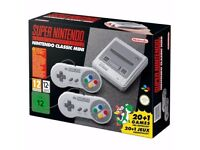 SNES MINI CLASSIC BNIB SEALED SUPER NINTENDO WITH LOTS OF GAMES & 2 CONTROLLERS