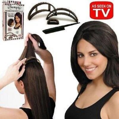2X Bumpits 5 pc BRUNETTE Hair Volumizing Plastic Inserts - Big Happie Hair for sale  Shipping to India