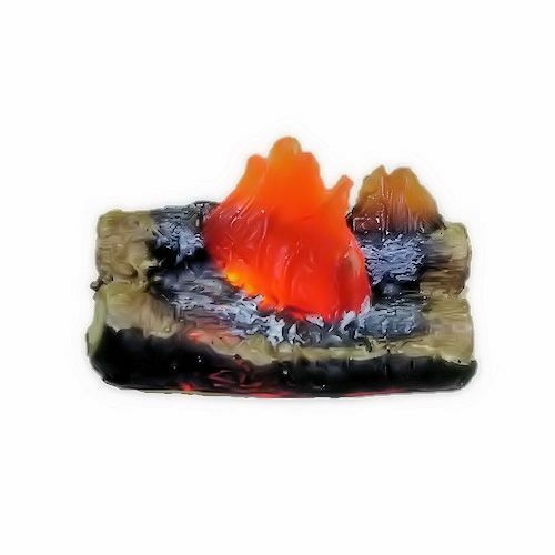 Dollhouse Raging Fireplace or Camping Fire Logs 1:12 Miniature 12 Volt Lighting