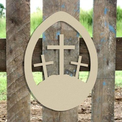 Wood Easter Cross Shape, Unfinished Shape, Wooden Cross Cutout, Paintable Craft