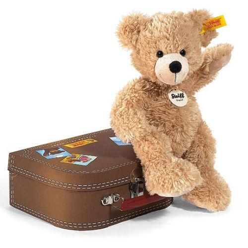 Steiff Fynn Teddy Bear and Suitcase