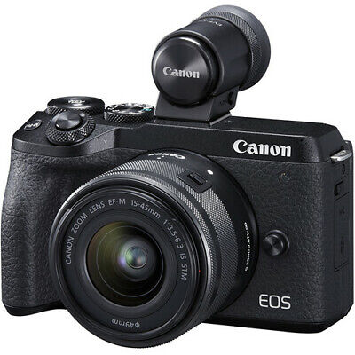 Canon EOS M6 Mark II Mirrorless Digital Camera with 15-45mm Lens and EVF-DC2