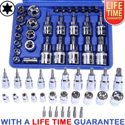 - 29PCS Torx Star Socket Set & Bit Male Female E & T Sockets With Torx Bit Tool US