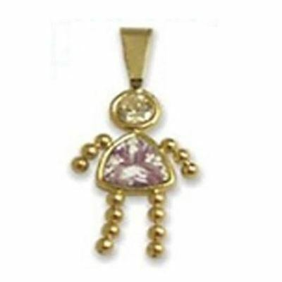 June Birthstone CZ Girl Charm in 14k - June Girls Charm
