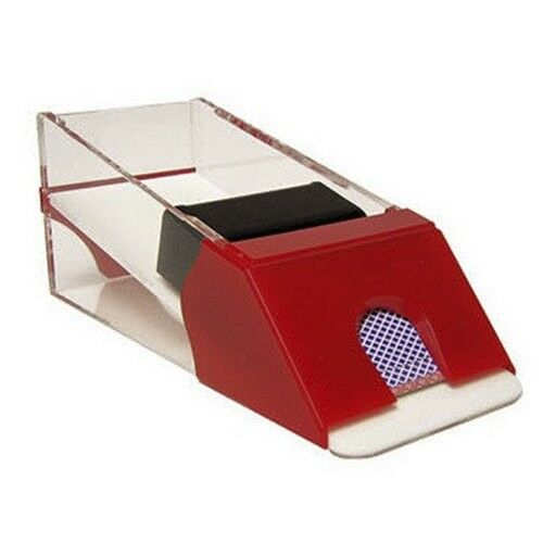 Casino Pro Security Blackjack Dealer Shoe - 6 Deck Red