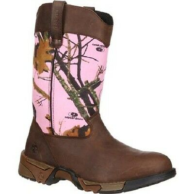 Closeout Hiking Boots (ROCKY WOMEN'S AZTEC PINK CAMO BOOTS RKYS133 - NEW - CLOSEOUT)