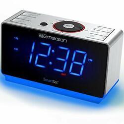 ER100112 Smartset Alarm Clock Radio with Bluetooth Speaker, USB Er100112