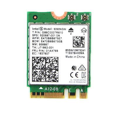 Intel Dual Band Wireless-AC 9260 NGFF 1730Mbps WiFi + Bluetooth5.0 802.11ac Card