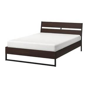IKEA Queen bedframe and mattress