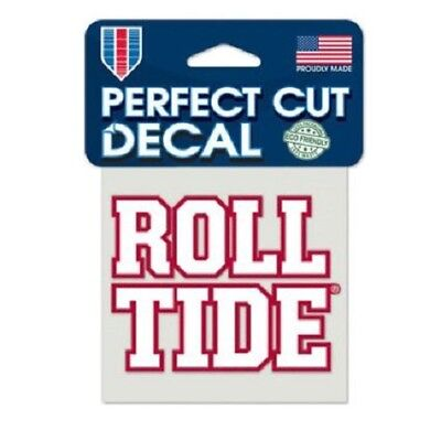 "Alabama Crimson Tide 4"" x 4"" Logo Truck Car Auto Window Die Cut Decal ROLL TIDE"