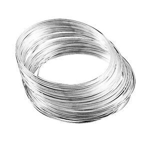 Pack of 20 x Silver Stainless Steel 1mm Memory Wire Bracelet Loop HA07530