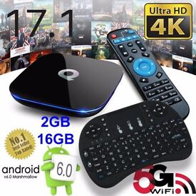 Q-Box Android 6.0 TV Box - WIFI WITH Mini Keyboard