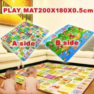 5/10/20mm Thick 2mx1.8m L Baby Kids Play Mat Floor Rug Cushion
