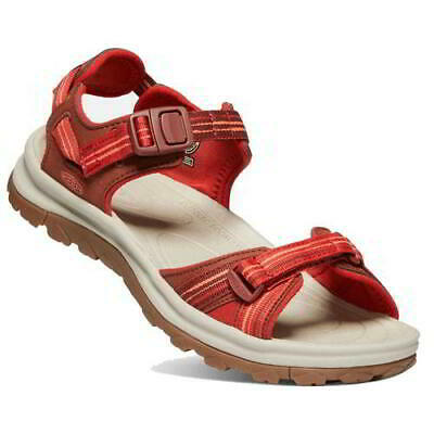 Keen Terradora II Open Toe Sandals Womens Ladies Red Walking Sandals Size 4-8