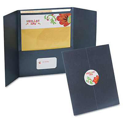 Oxford Your Style Custom Gatefolio Presentation Folder Black 12 Count 50690