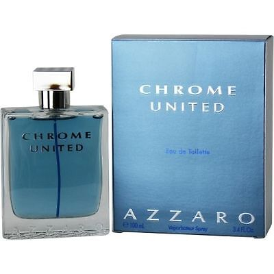 Chrome United by Azzaro 3.4 oz EDT Cologne for Men New In Box