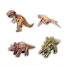 3D Puzzle Dinosaur Puzzles x 4 Cardboard Models NEW Kids Toys Yarramalong Wyong Area Preview