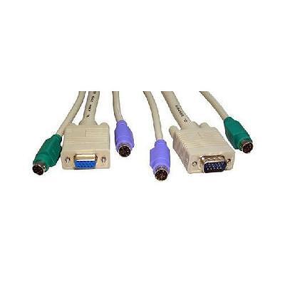 GI630 Cavi KVM per VGA e PS2 Scatole interruttori 2 Metri - 1 set