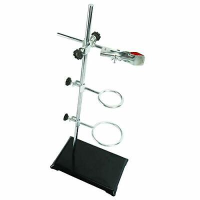 Lab Metalware Set - Support Stand Rod Clamp And Retort Ring