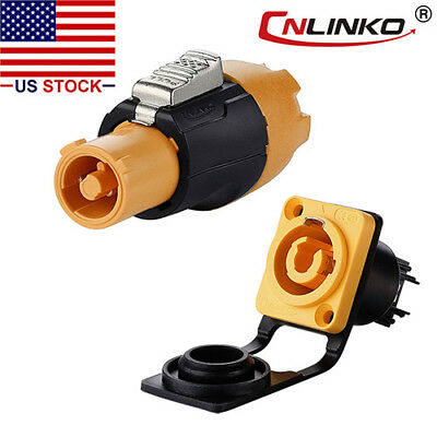 Cnlinko 3 Pin Connector Plug Socket Waterproof Ip67 Compatible W Neutrik