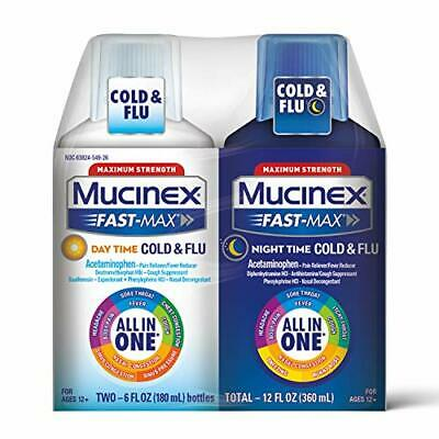 Mucinex Fast-Max Double Pack Day Time Severe Cold Plus Night