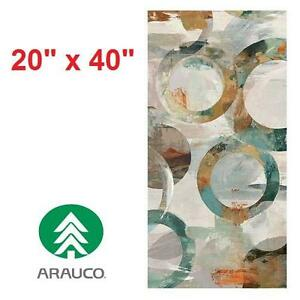 "NEW ARAUBO ALCETO CANVAS WALL ART 20"" x 40"" - ARTWORK ART ARTS PAINTINGS PAINTING ABSTRACT HOME DECOR ACCENTS 100449761"