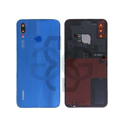 Tapa Trasera Battery Cover Cristal Lente Huella Azul Huawei P20 Lite ORIGINAL