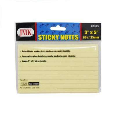 3x5 Sticky Notes 3 X 5 Yellow 100 Sheetspad Ruled Lines 3x5inch