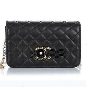 Black Quilted Chain Bags