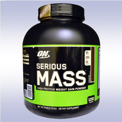 OPTIMUM NUTRITION SERIOUS MASS (6 LB) weight gainer whey protein amino energy on
