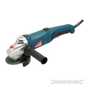 HEAVY-DUTY-SILVERLINE-800W-4-5-115MM-ELECTRIC-ANGLE-GRINDER-3-DISCS-WARRANTY