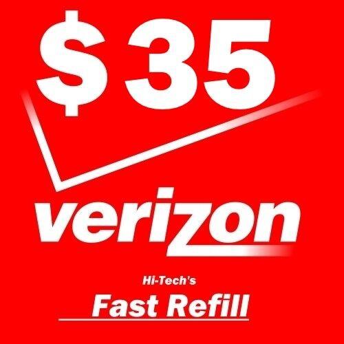 $35 VERIZON PREPAID FASTEST ONLINE REFILL > 25yr USA TRUSTED DEALER <