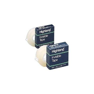 Highland Invisible Tape - 0.75 Width X 83.33 Ft Length - 1 Core - Writable