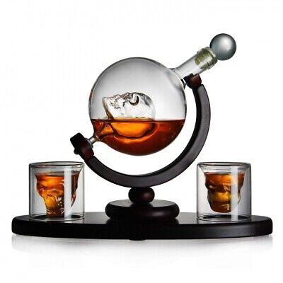 Skull Whisky Set mit Totenkopf für Whisky und Absinth-Liebhaber Karaffe Globus
