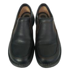 mens born blast ii black leather slip on shoes size 9m