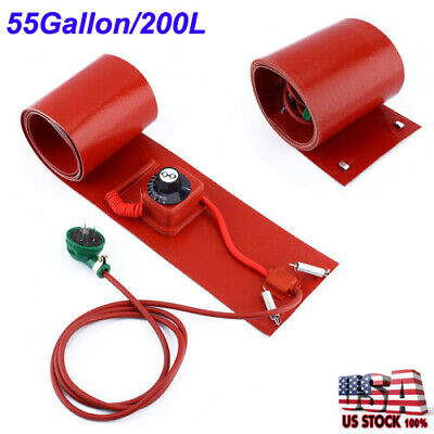 55 Gallon 200l 1000w Silicon Band Drum Heater Oil Biodiesel Metal Barrel Utility