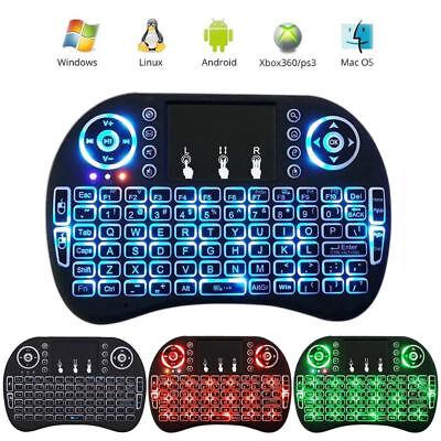 Rii i8+ Backlit Multi-Touch 2.4G Mini Wireless keyboard KODI Android PC PS3/XBOX