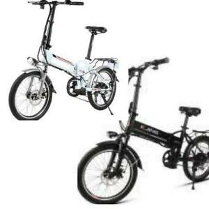 Weekly Promotion! High Quality   20 Aluminum alloy Folding eBike, White/Black $1399(was $1799)