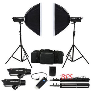 2x600W Godox Photography Studio Strobe Flash Softbox Lighting Kit EU adapter - <span itemprop=availableAtOrFrom>Warsaw, Polska</span> - Zwroty są przyjmowane - Warsaw, Polska