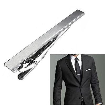 Gentleman Silver Metal Simple Practical Plain Necktie Tie Clip Bar Clasp USA
