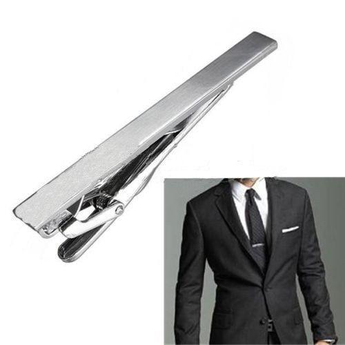 Gentleman Silver Metal Simple Practical Plain Necktie Tie Clip Bar Clasp USA