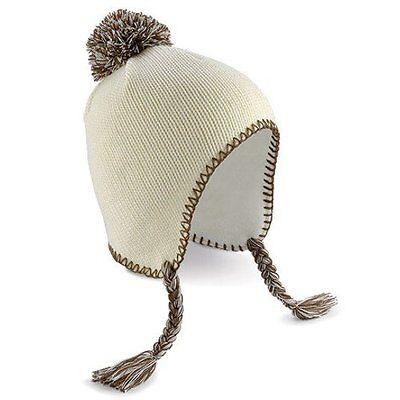 Off White Winter Beanie - Beechfield Beanie One Size Thermal Winter Ski Warm Hat Off White