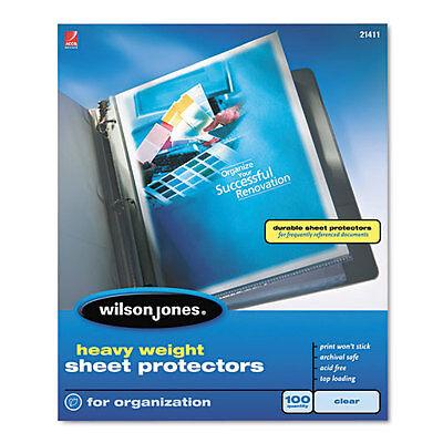 New Wilson Jones Heavy Duty Sheet Protector Non-glare 100pk - 21411