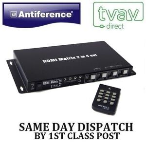 Antiference HDMI Matrix 2x4 HDMI0204M