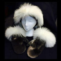 Sealskin Hat and Mitts
